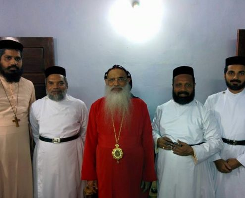 With His Holiness